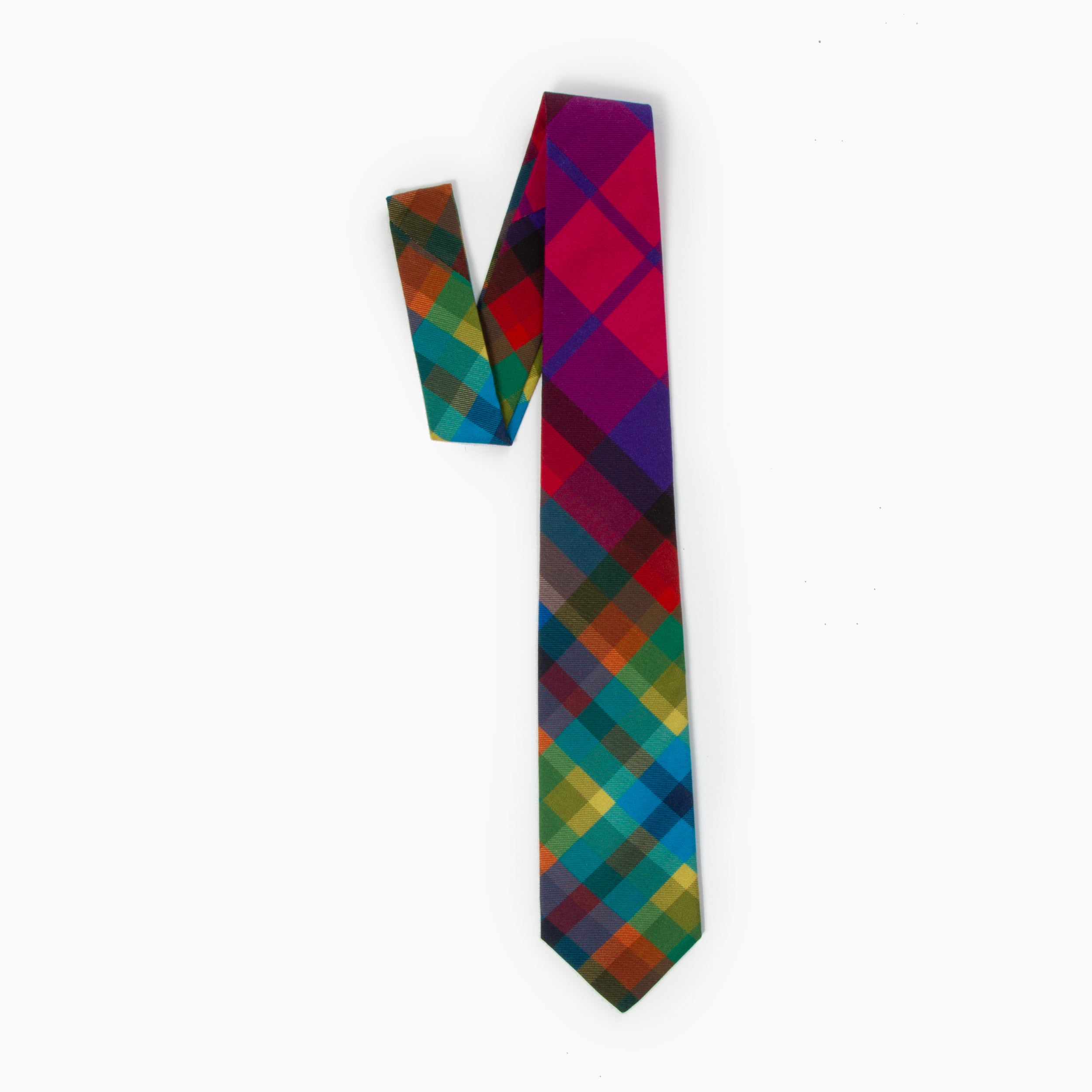 The Technique Plaid Self Tipped Tie