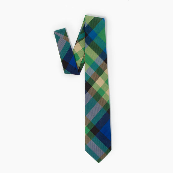 The Hobbit Plaid Self Tipped Tie