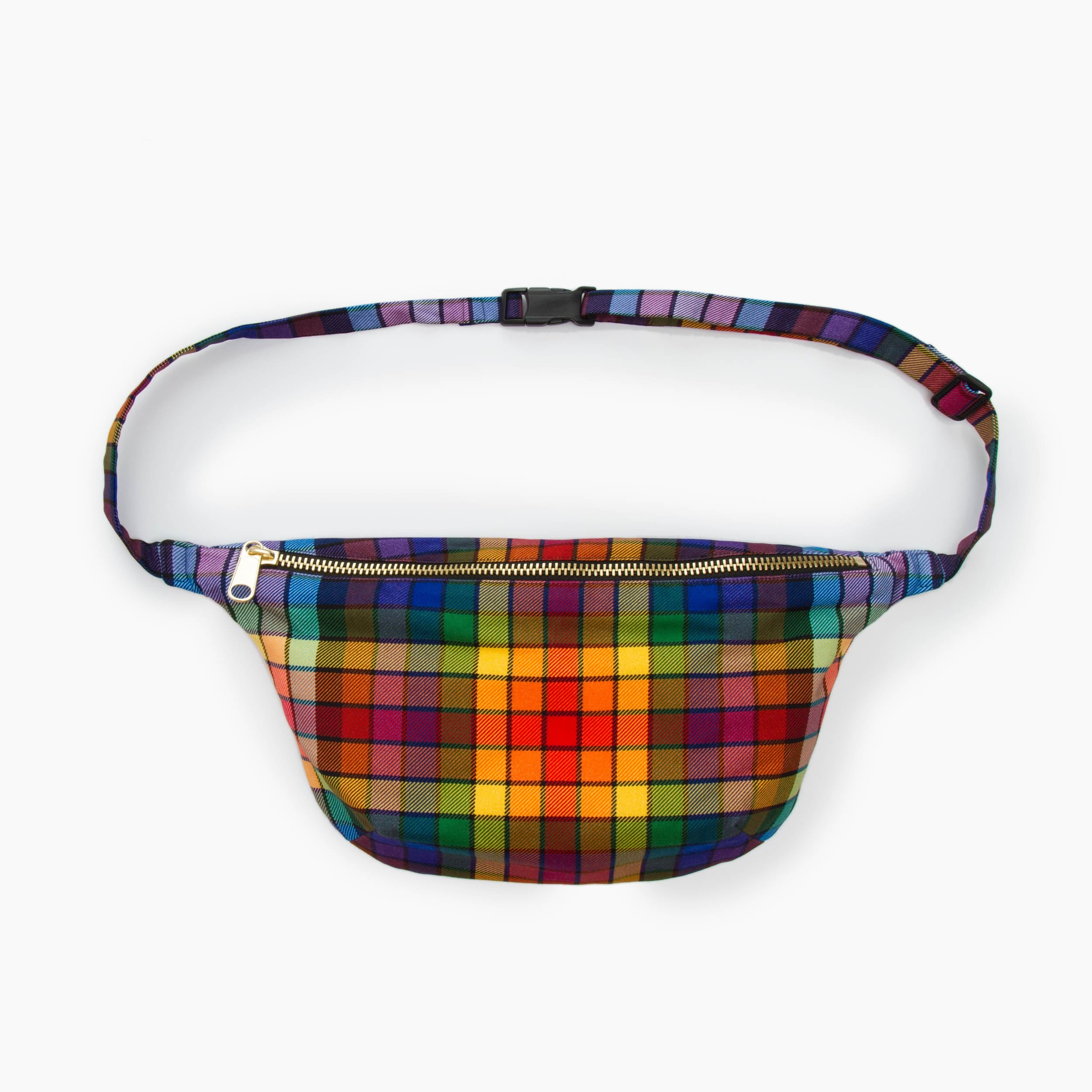 The Pride Plaid Sling Bag