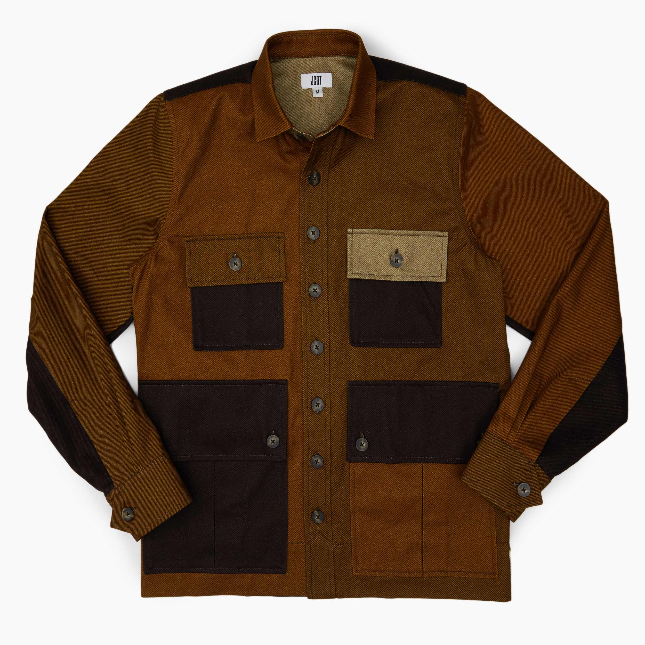 The Brown Mixed Twill Driving Jacket