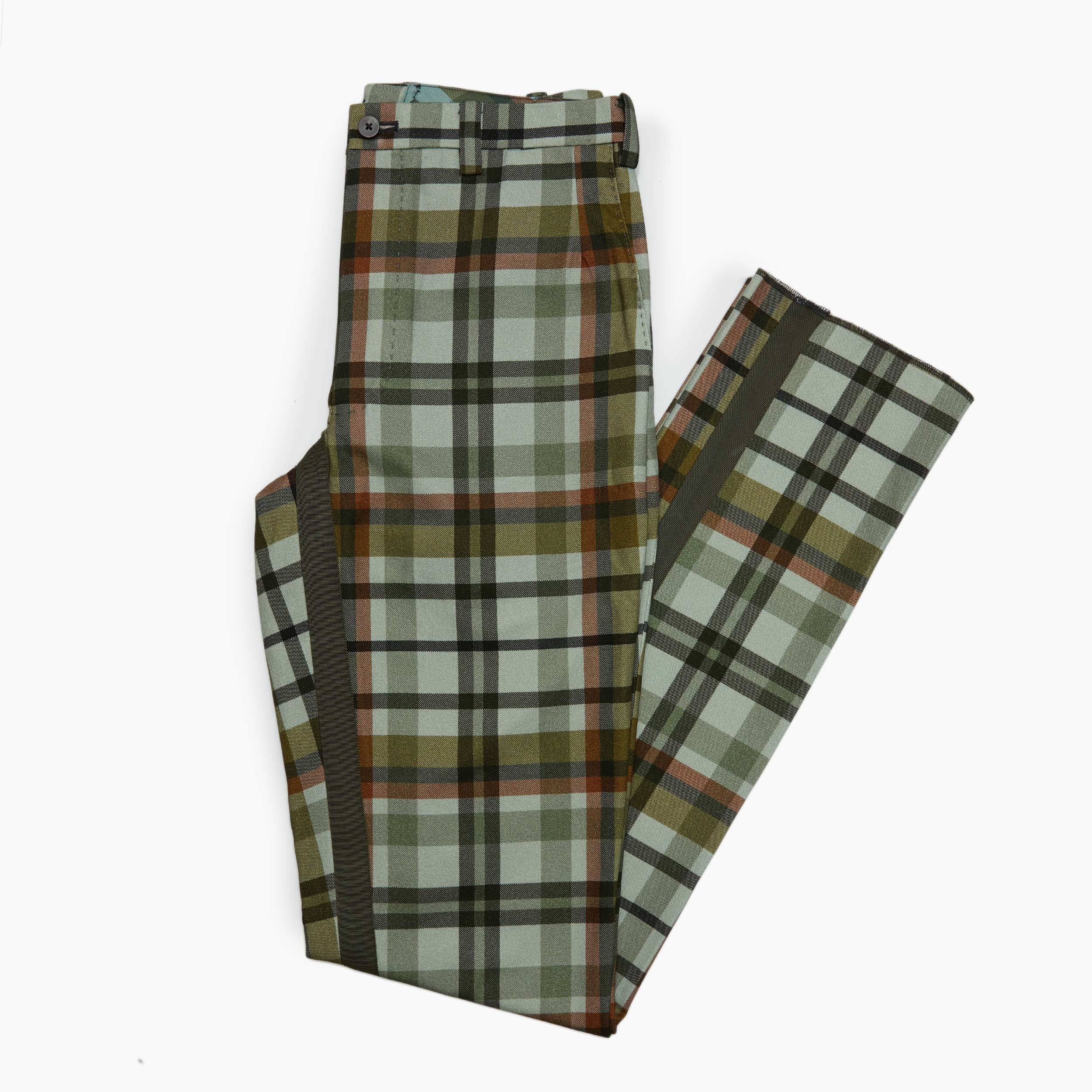 The Tiger Stripe Plaid Trouser