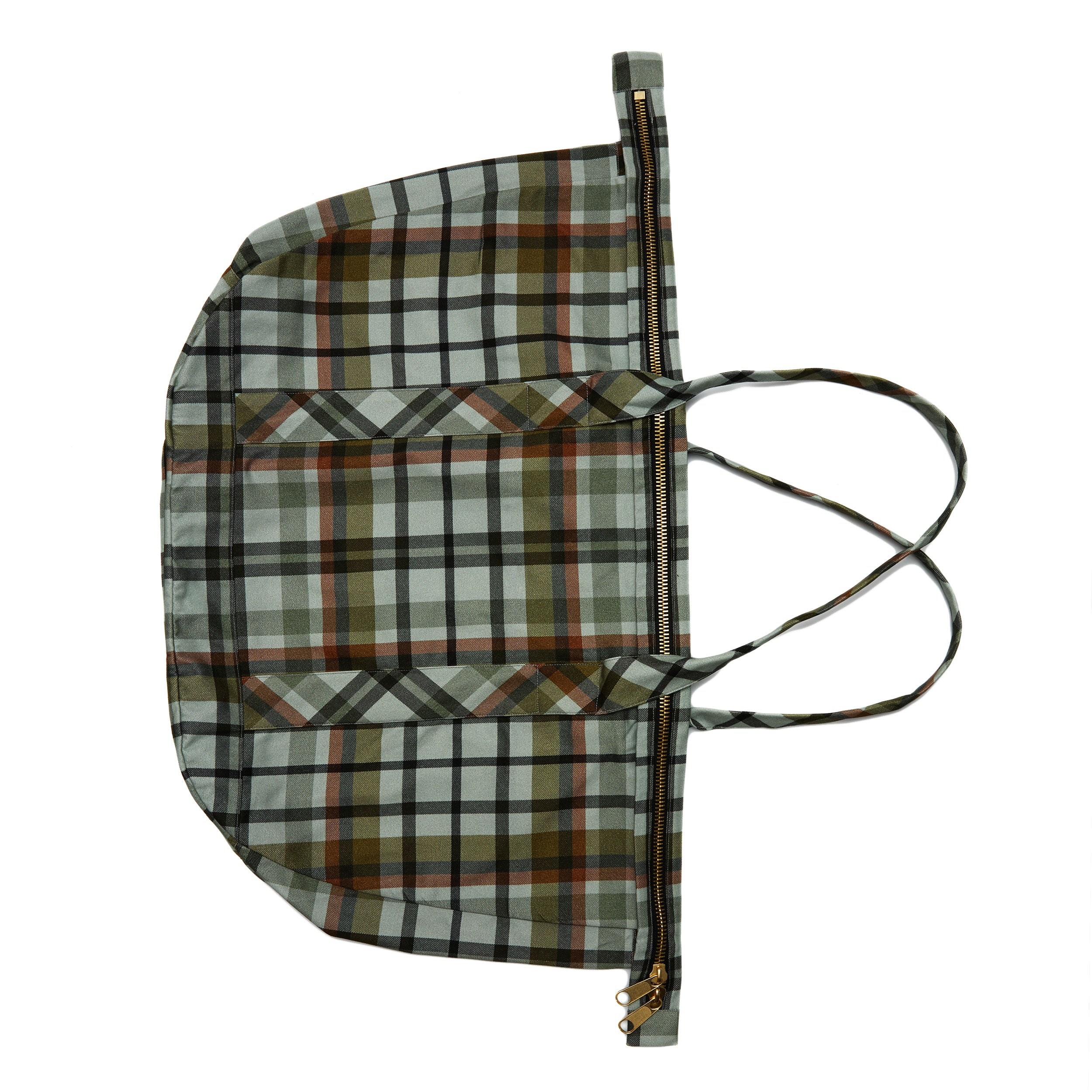 The Tiger Stripe Plaid Satchel