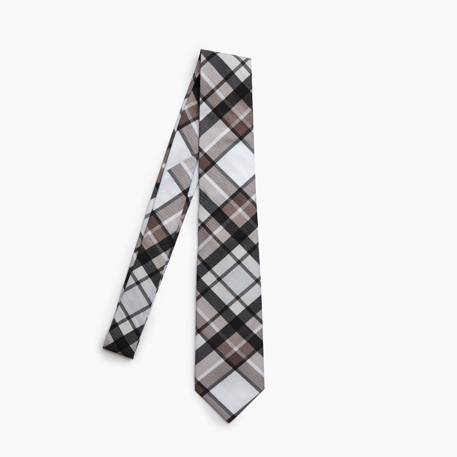 The Debut Plaid Self Tipped Tie