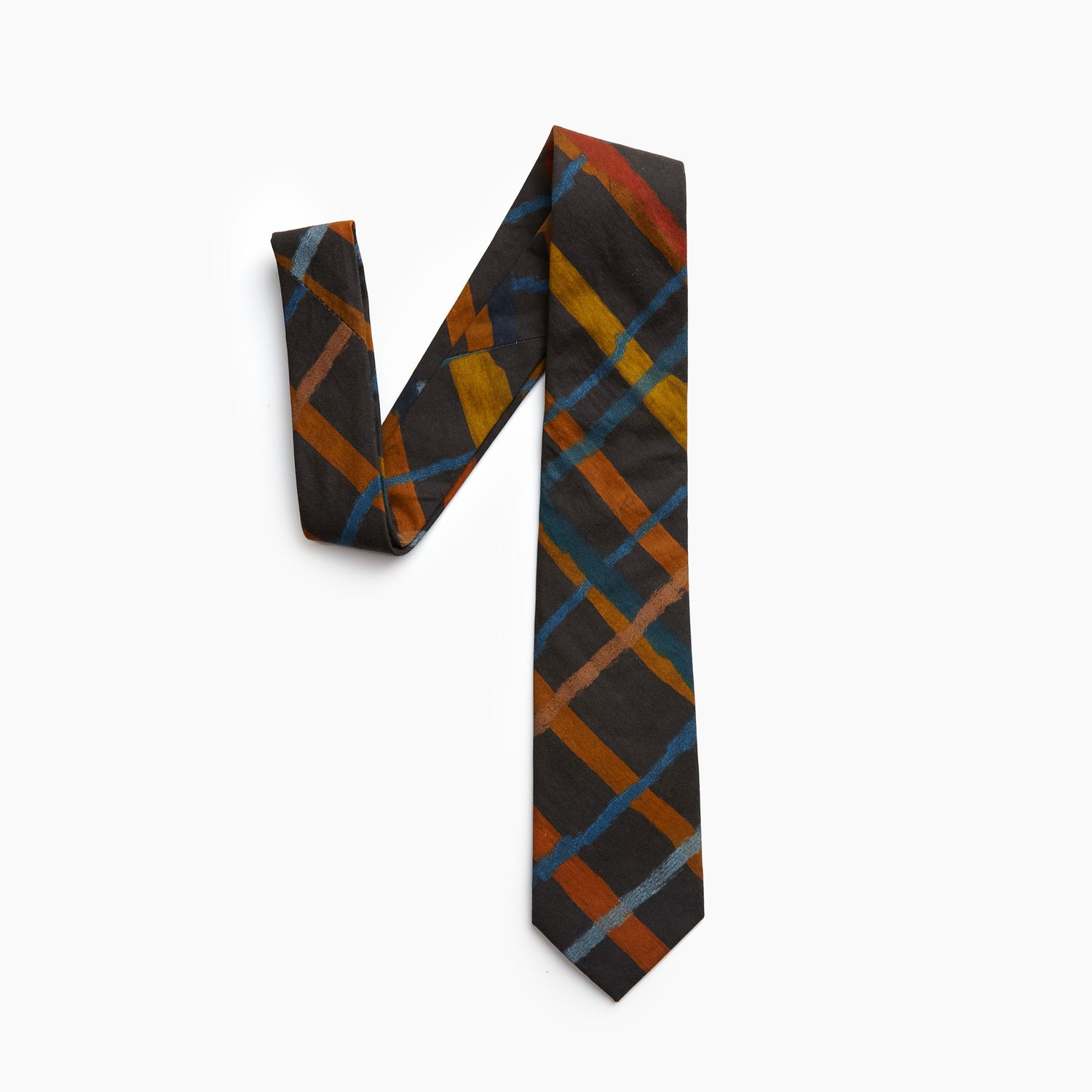 The Rembrandt Plaid Self Tipped Tie