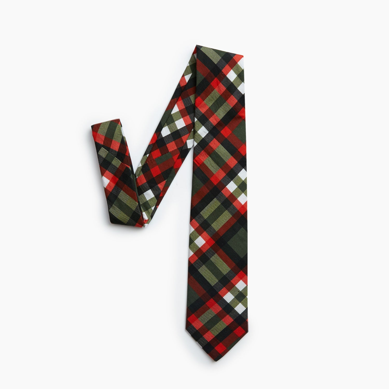 The Two Towers Plaid Self Tipped Tie