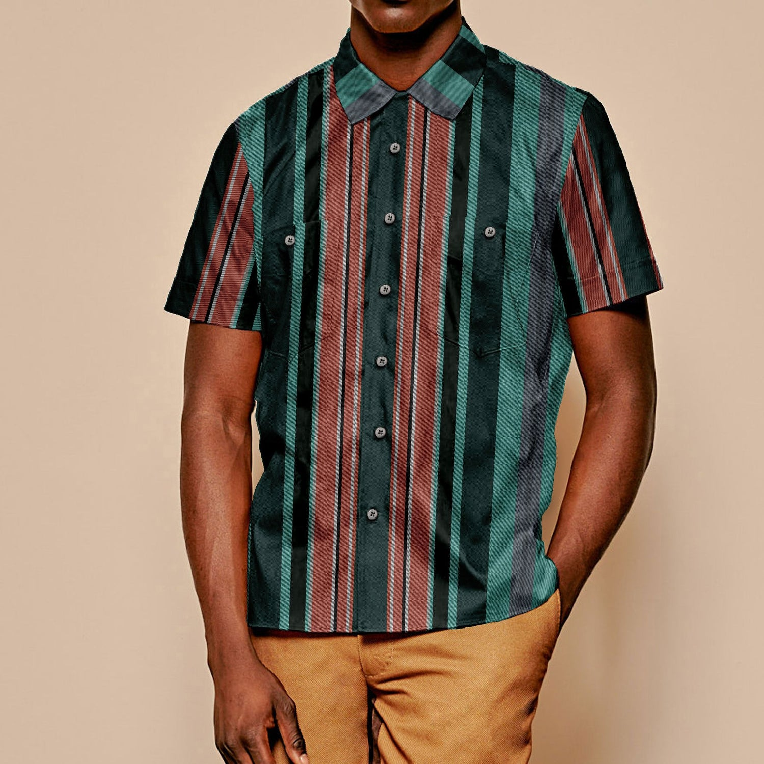The Dazzle Ships Stripe Short Sleeve Shirt