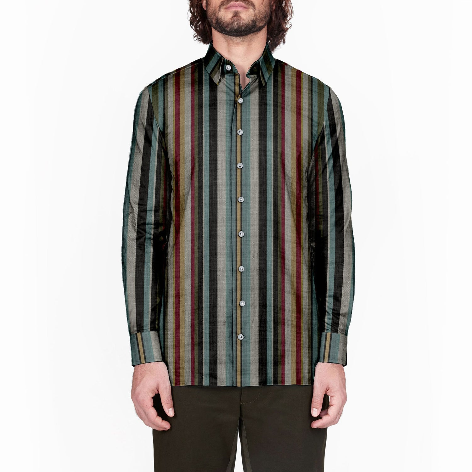 The Cloisters 52 Card Deck Stripe Long Sleeve Shirt