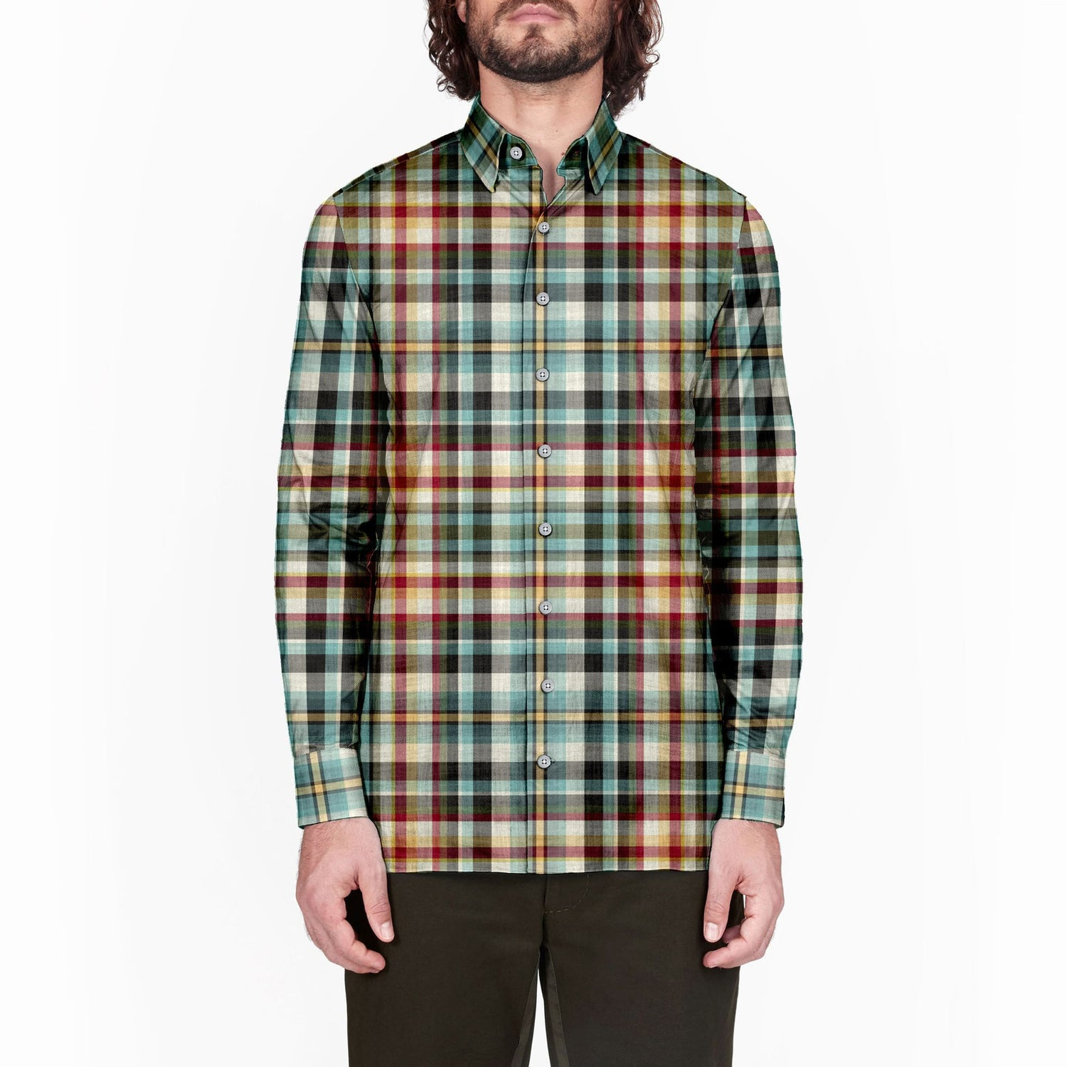 The Cloisters 52 Card Deck Plaid Long Sleeve Shirt