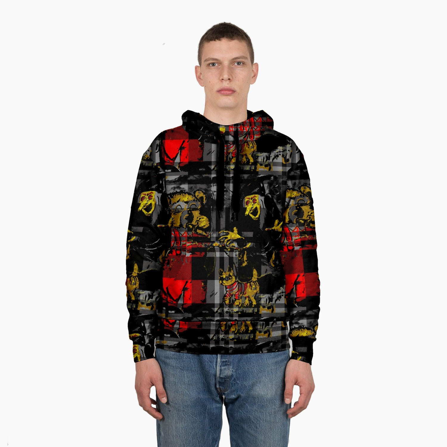 Scooter Bear Witch Plaid Sweatshirt