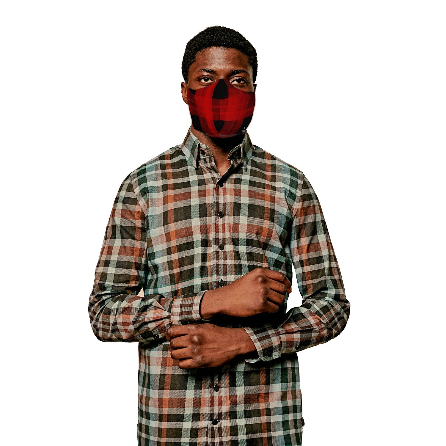 The Buffalo Marker Plaid Face Mask