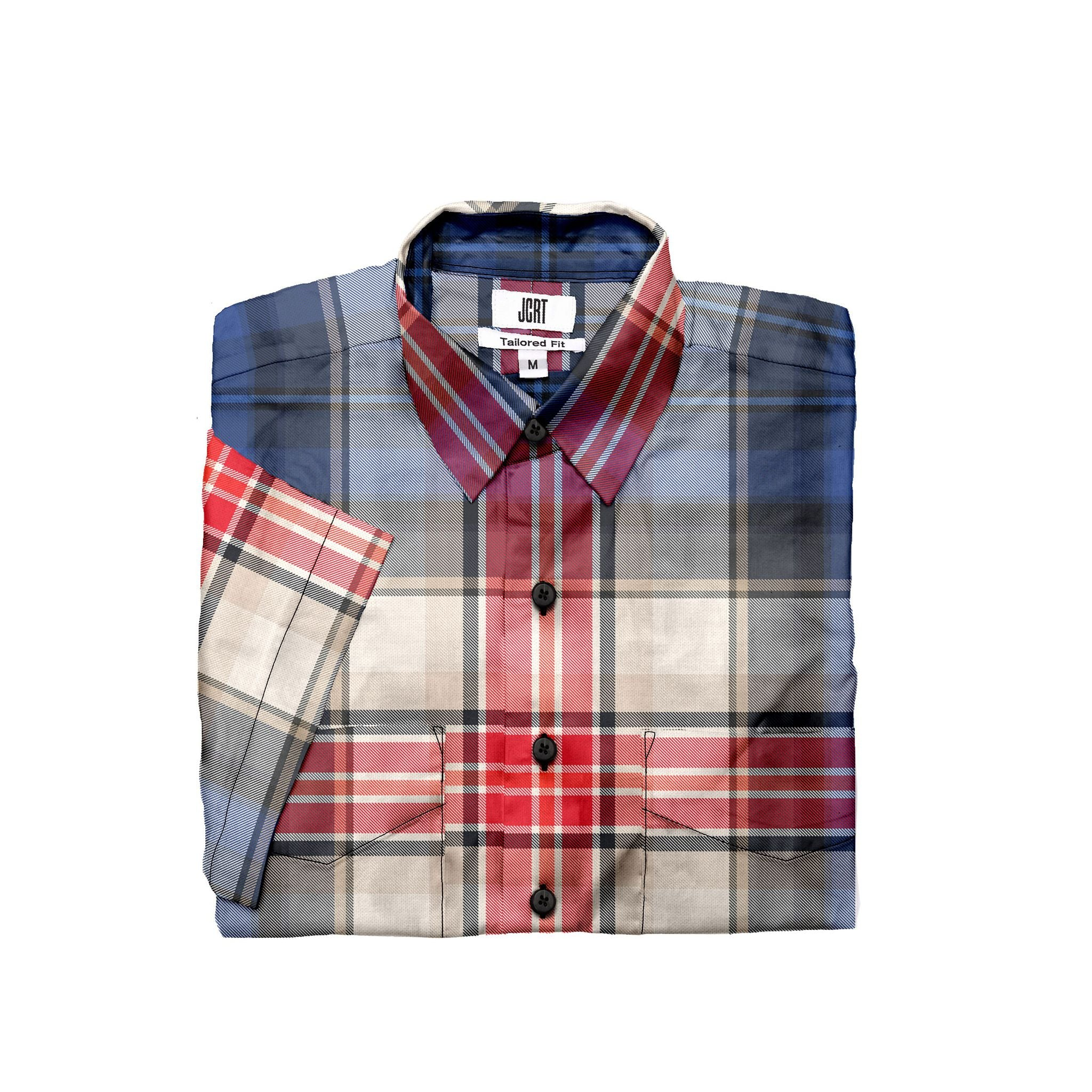 The Lovely Plaid Short Sleeve Shirt