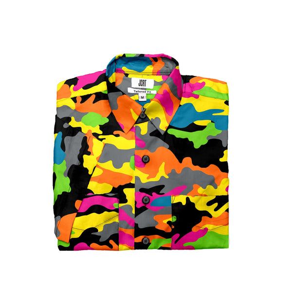 The 3 Feet High and Rising Camouflage Short Sleeve Shirt