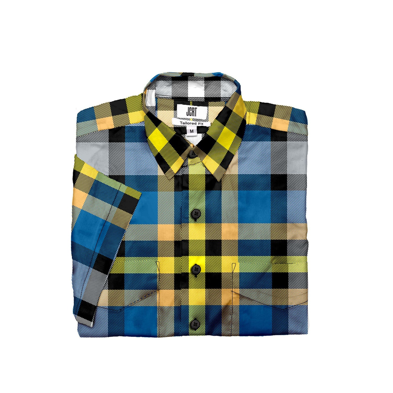 The Vintage Batman Plaid Short Sleeve Shirt