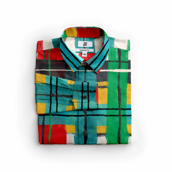 The Joan Miro Plaid Long Sleeve Shirt