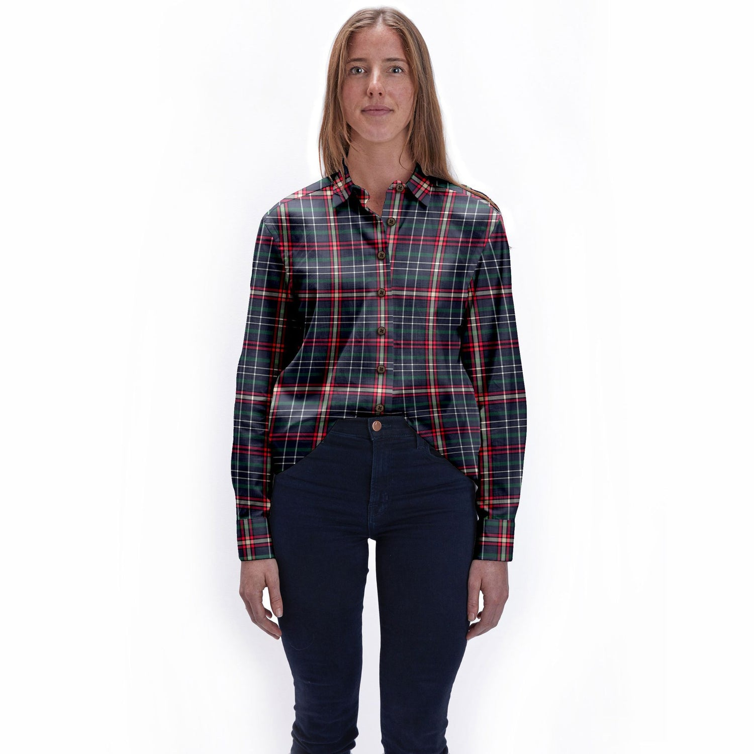 The All Work and No Play Plaid Womens  Flannel