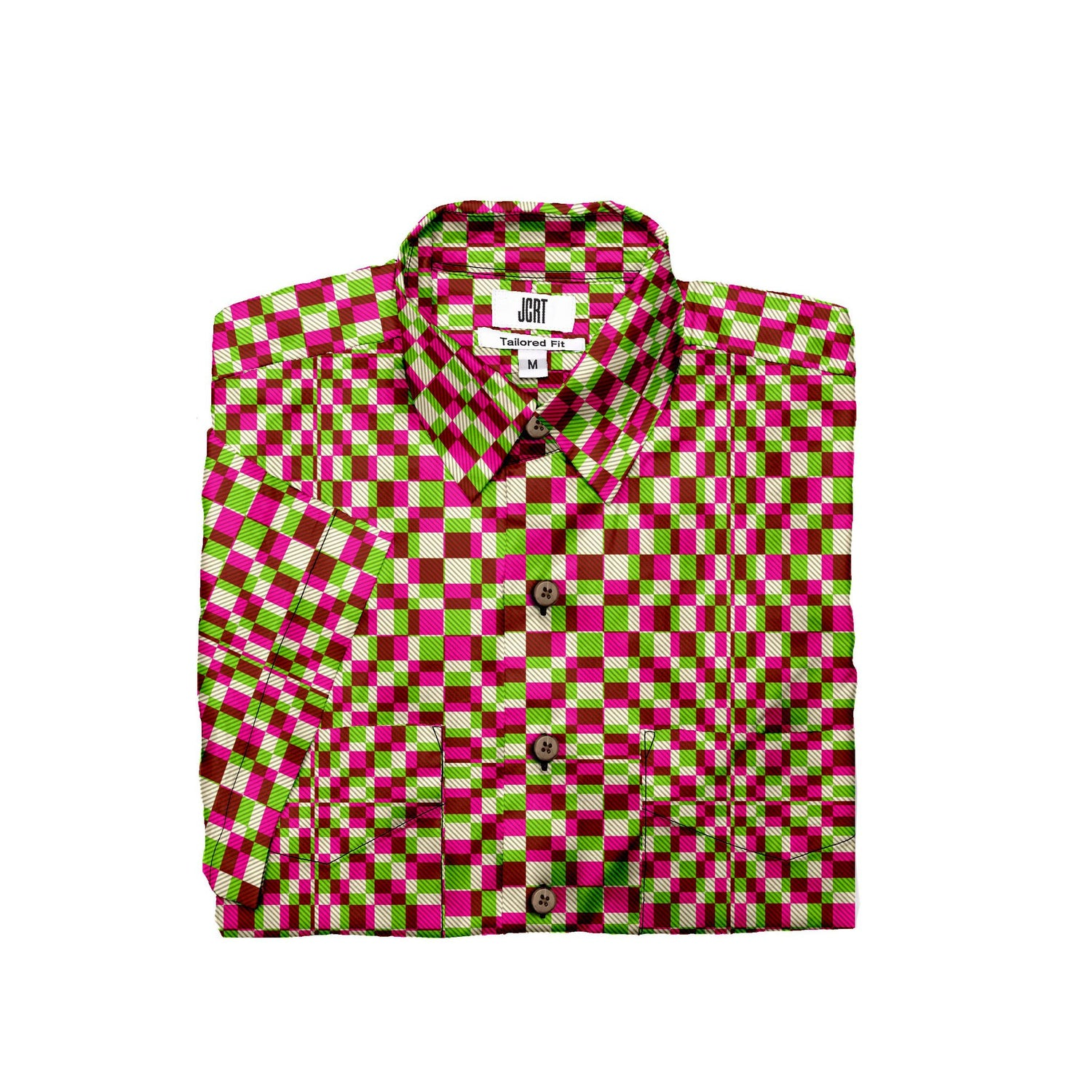 The Screaming Squares Plaid Short Sleeve Shirt