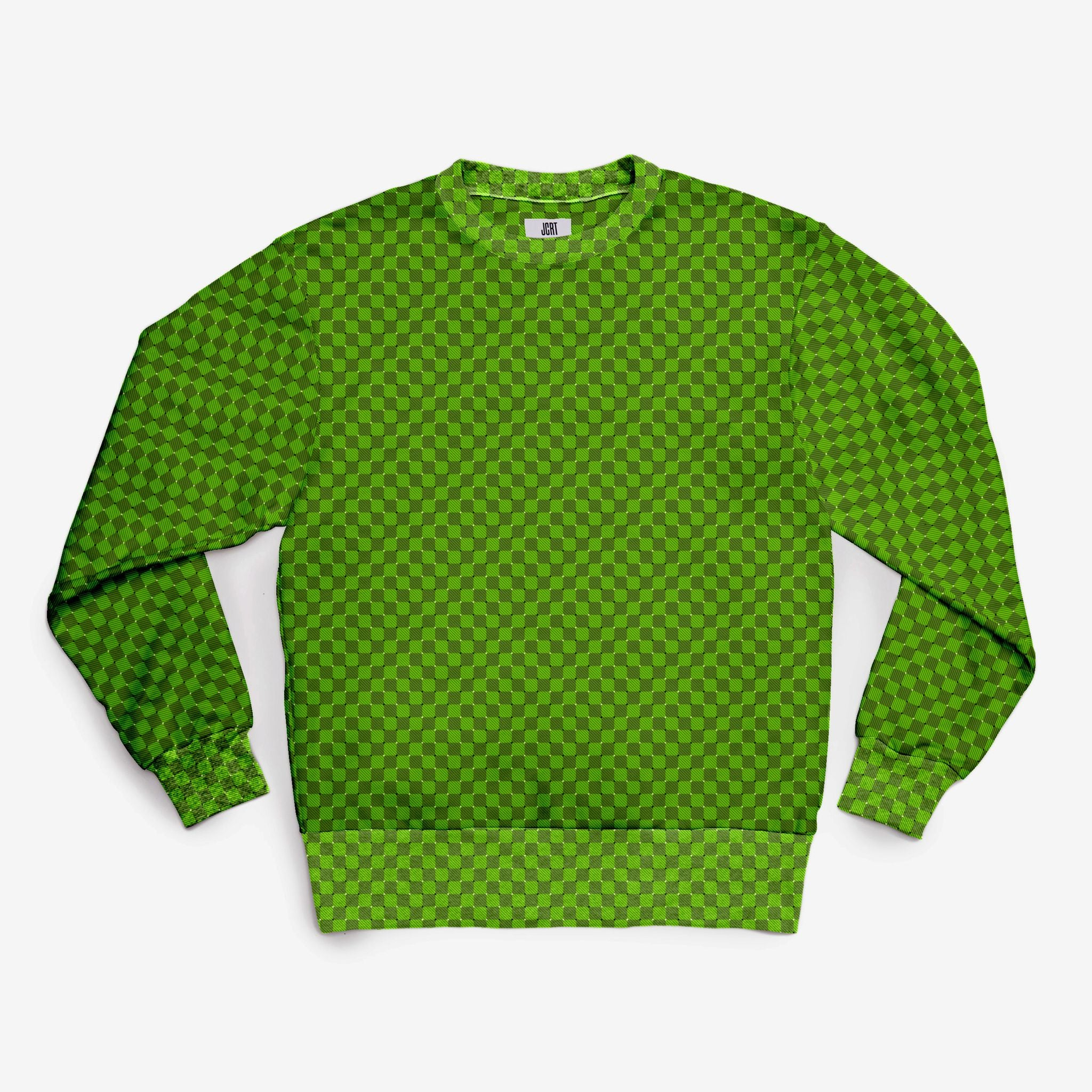 The Groovy Green Check Sweatshirt