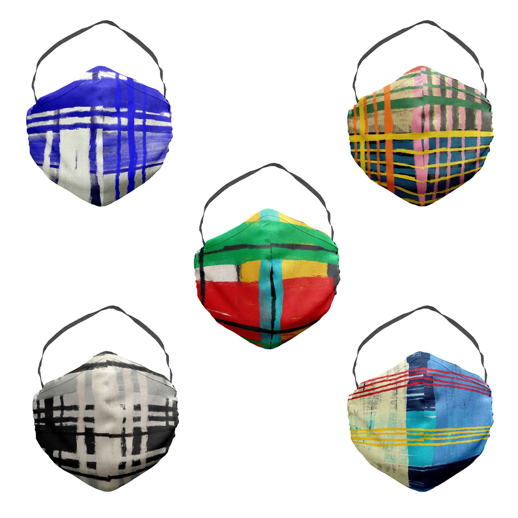 Painted Plaid Variety Face Mask 5 Pack