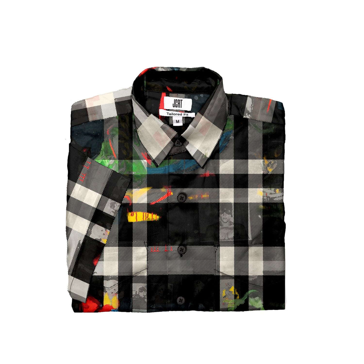 The Scooter Blue Smurf Plaid Short Sleeve Shirt