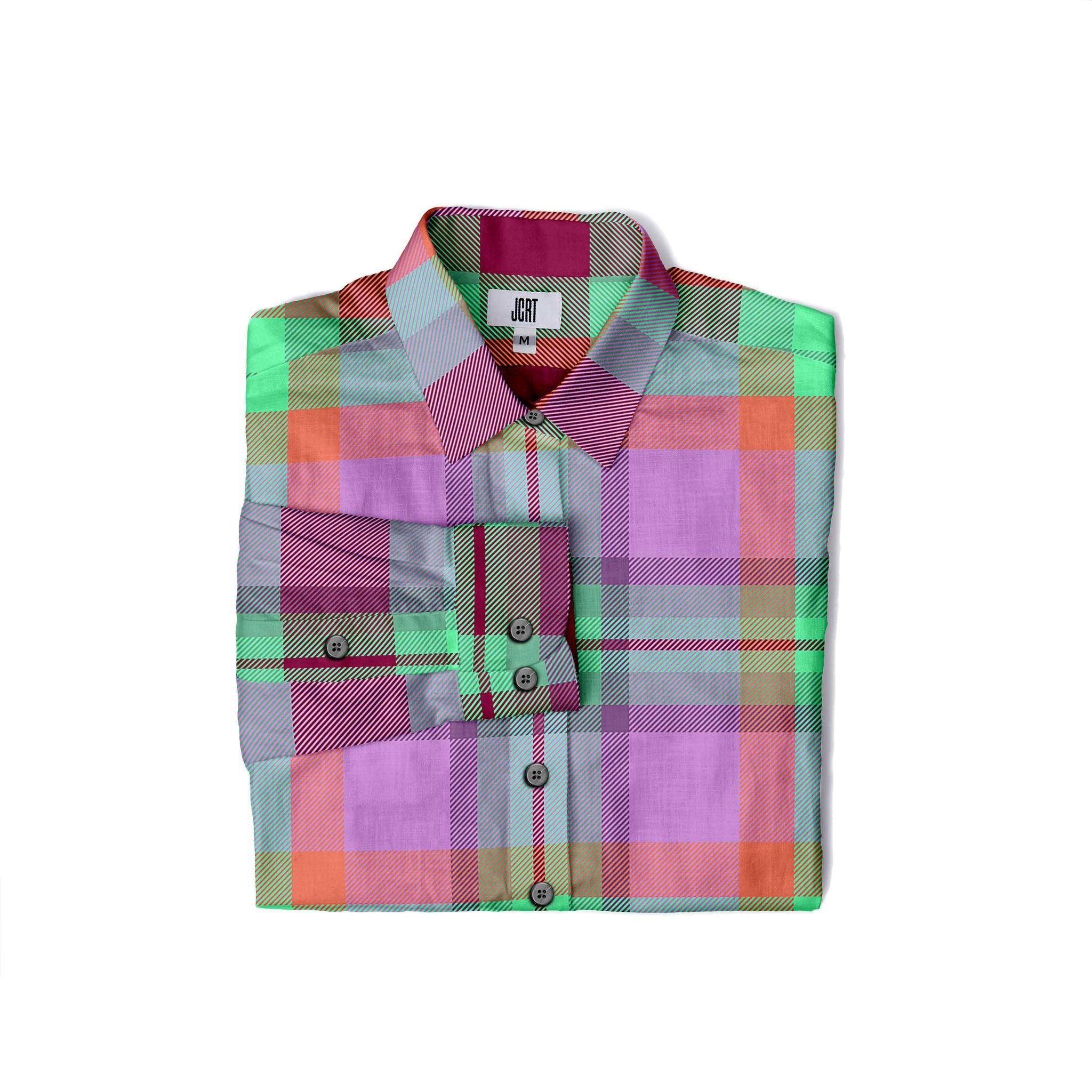 The JCRT Stubbs & Wootton Pink Plaid Women's Shirt