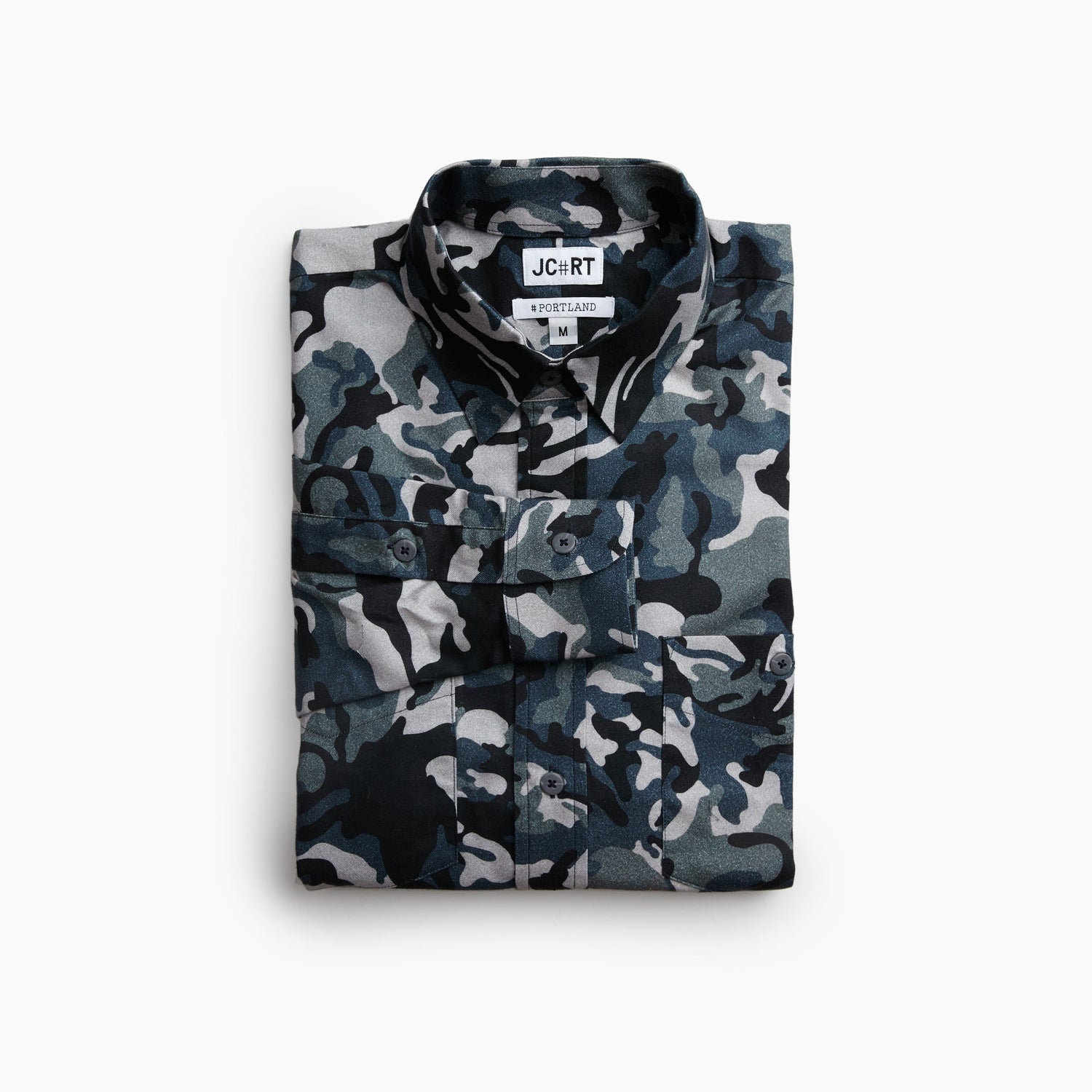 The Portland Casual Fit | The Greek Army Special Forces Camouflage Flannel