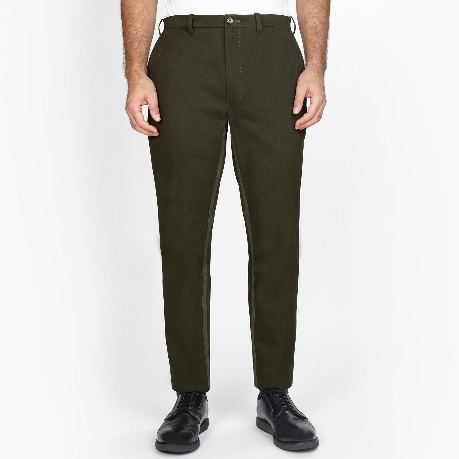 The Olive Paradox Plaid Trouser