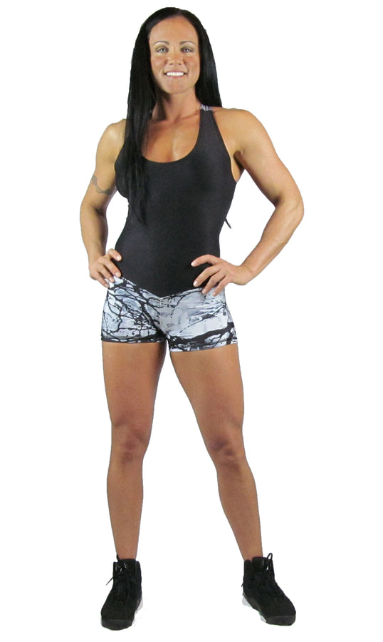 Snow Camo Short Length Bodysuit