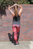 Red Snakeskin Legging