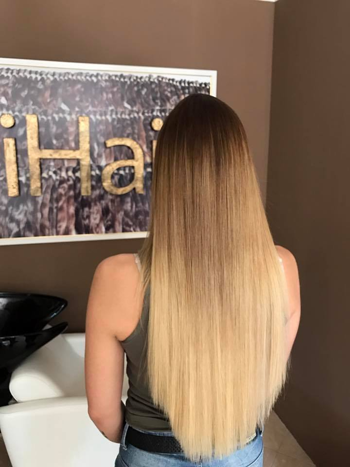 Colored Hair extensions #02, 100g ♥ Luxury ♥ Long Life ♥ Ombre