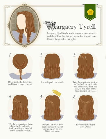 Margaery Tyrell hair extensions