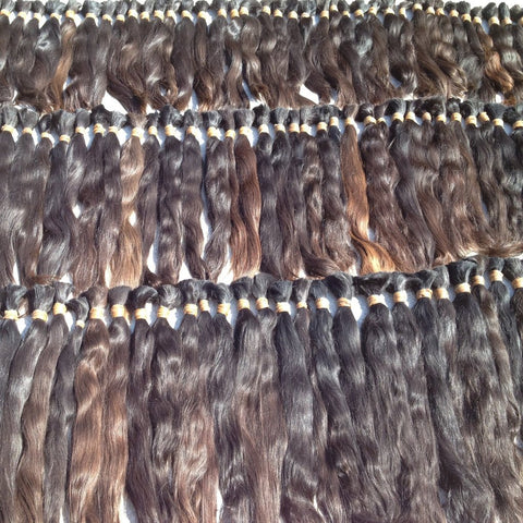 Natural bulk, virgin hair, one head remy - 100 grams (3.5 oz)♥ freshly cut ♥ luxury