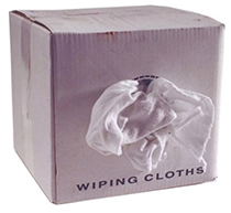 Knit Wiping Cloths White 5 lbs