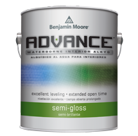 Benjamin Moore ADVANCE®<br>Waterborne Interior Alkyd<br>Semi Gloss
