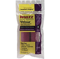 "Whizz 4"" Velour Roller Cover Refill 2 pack"