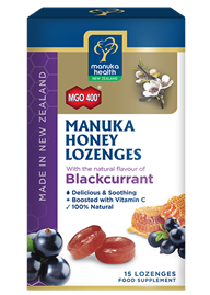 Manuka Honey & Blackcurrant Lozenges (15 lozenges 65g)