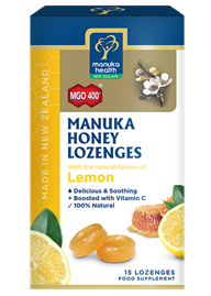 Manuka Honey & Lemon Lozenges (15 lozenges 65g)