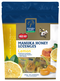 Manuka Honey & Lemon Lozenges (58 lozenges 250g)