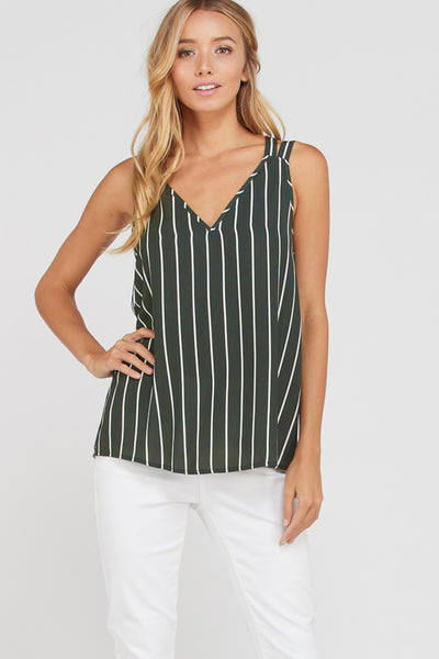 Forest Green Cross back tank