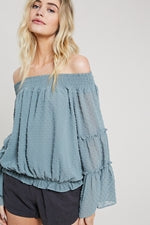 Smocked Off Shoulder