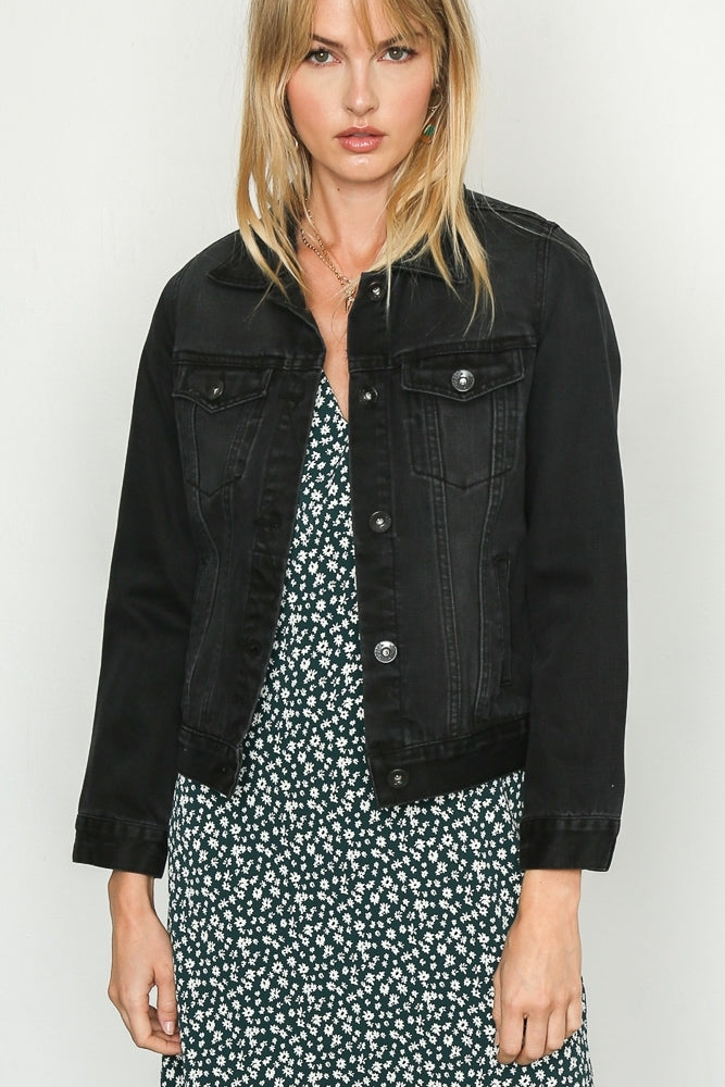 The Perfect Denim Jacket in Black