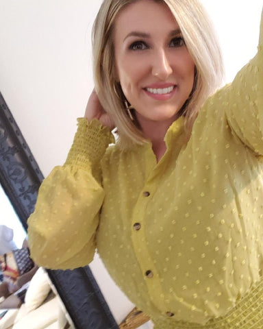 Smocked Lime Blouse