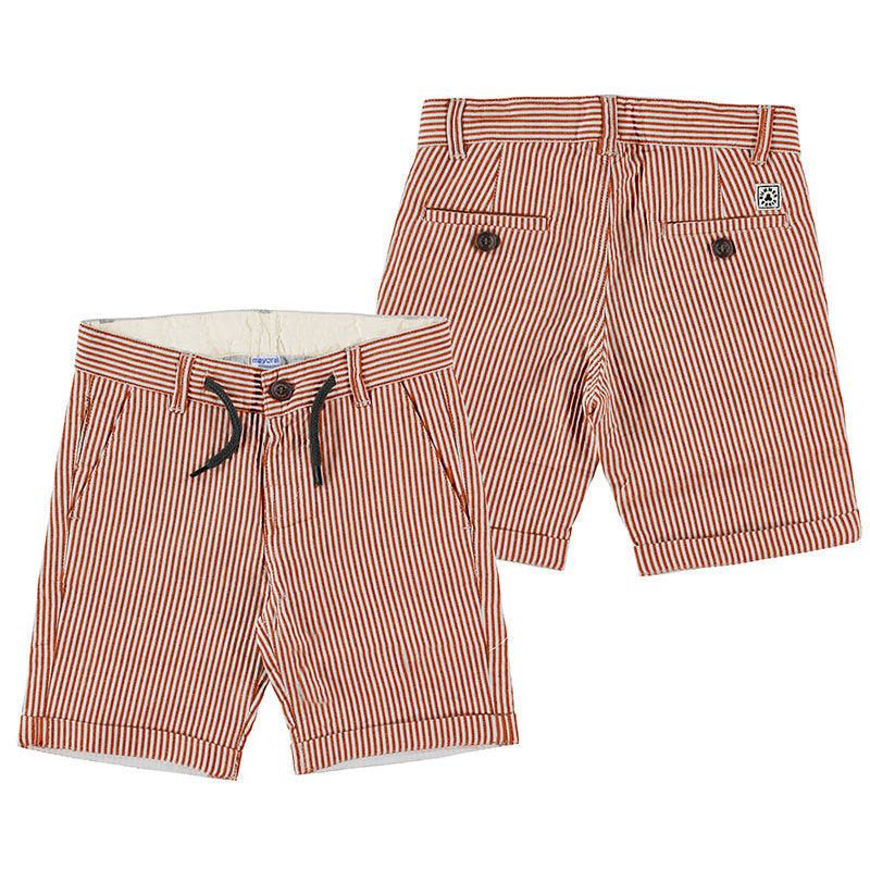 Red Striped Bermuda Shorts