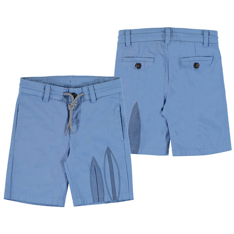 Blue Surfboard Bermuda Shorts