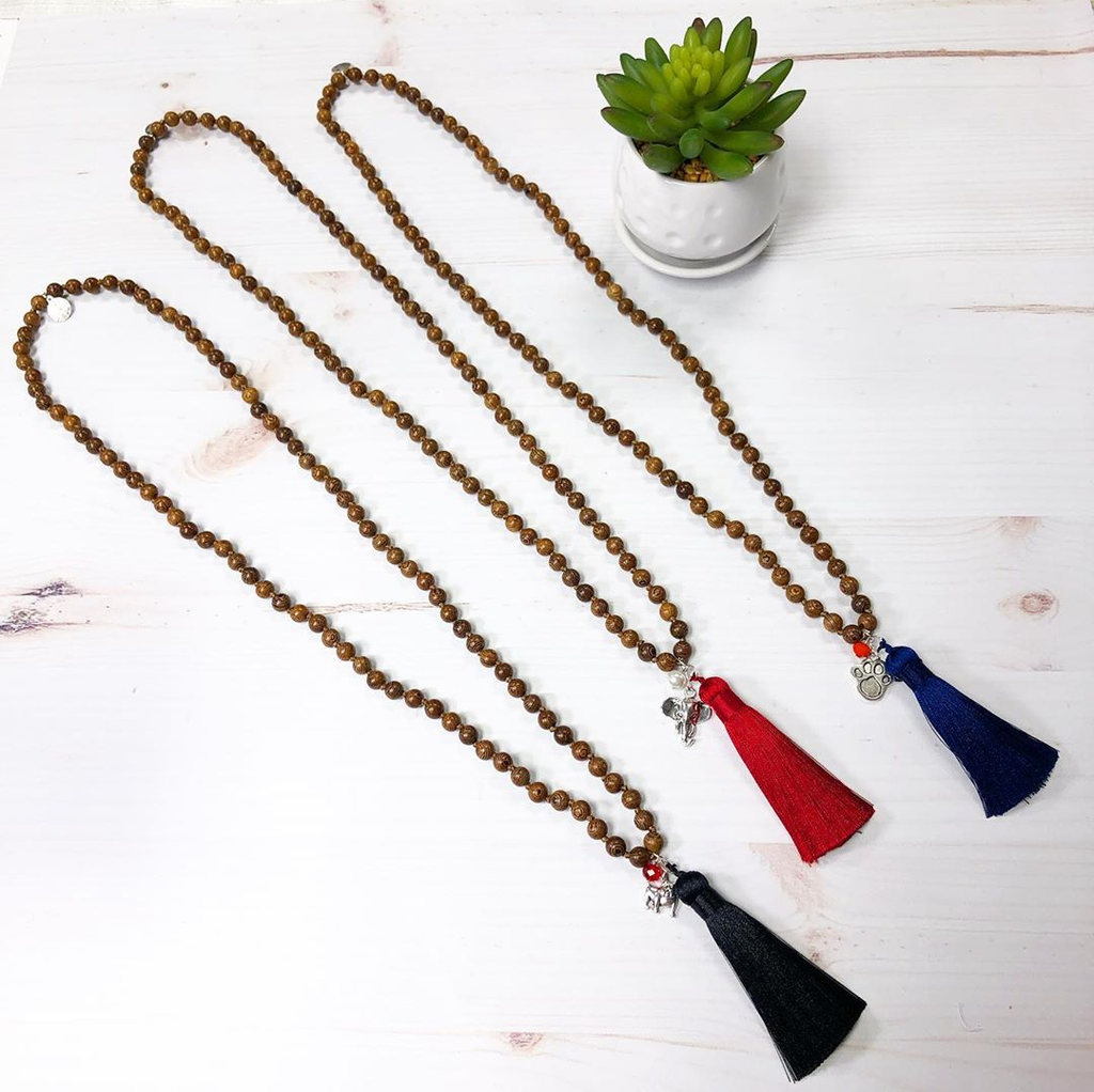Beaded Wooden Team Necklaces