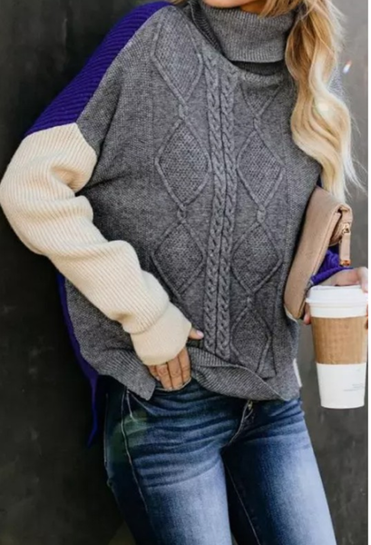 Cobalt Accent Sweater