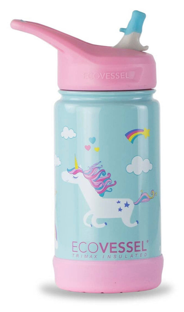 Kids Insulated Stainless Steel Bottle—Unicorns