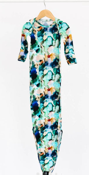 Watercolor Knotted Gown