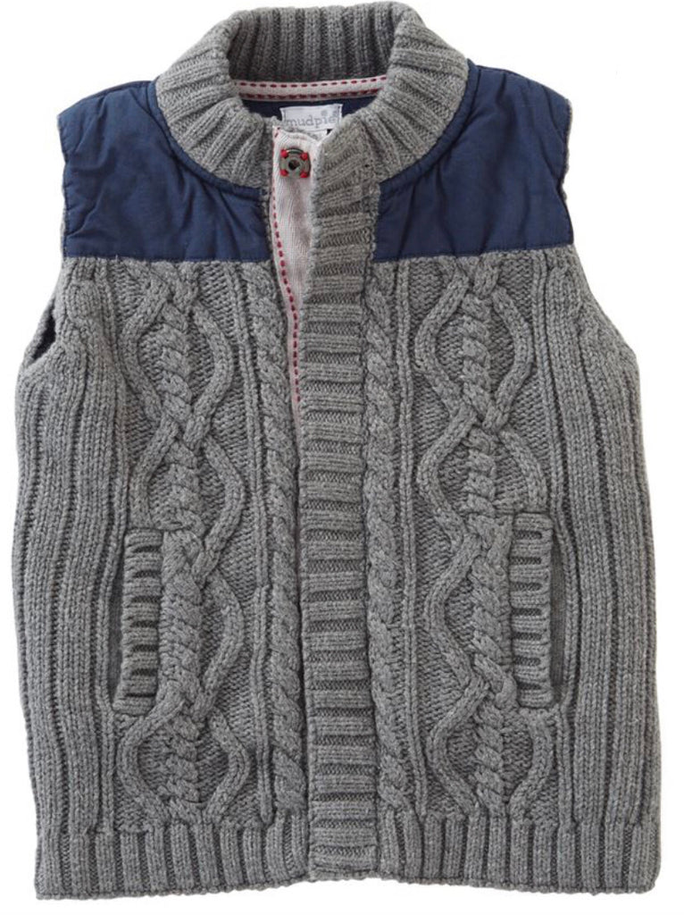 Sweater and Nylon Vest