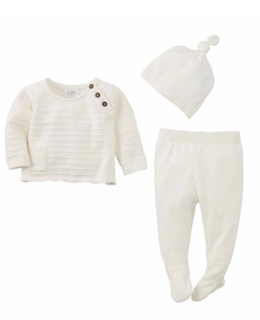 White knit 3-piece set
