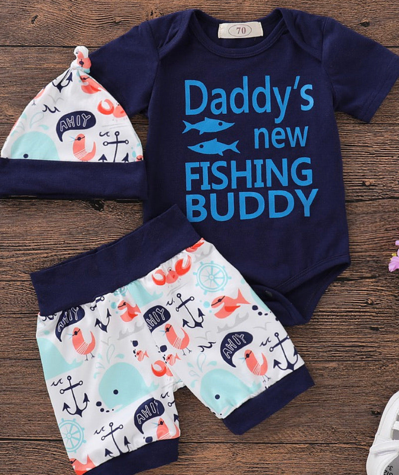 Daddy's Fishing Buddy Outfit